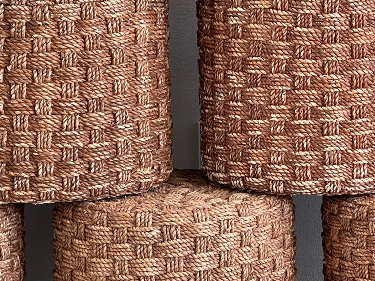 Audoux Minet Style Rope Stools For Sale 1