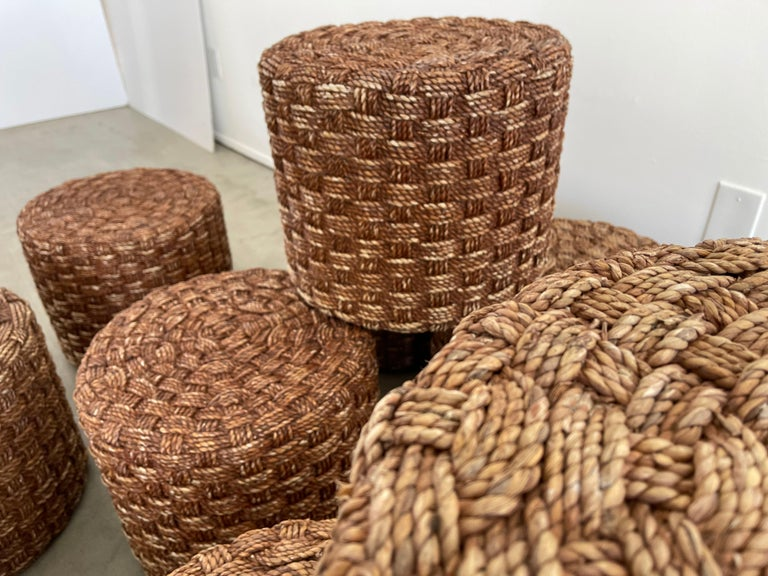 Audoux Minet Style Rope Stools For Sale 3