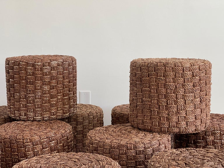 Audoux Minet Style Rope Stools For Sale 4