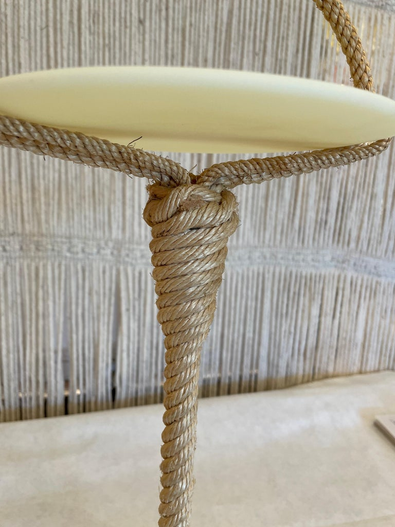 French Provincial Audoux Minet Style Rope Valet Table
