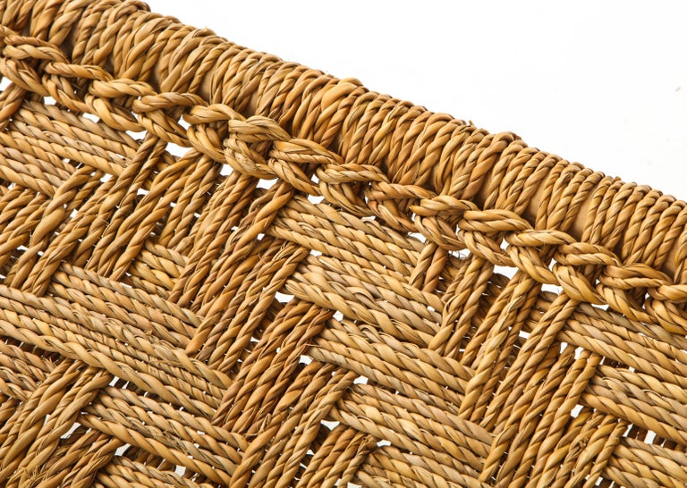 Audoux & Minet Woven Rope and Wood Coffee Table or Bench For Sale 4