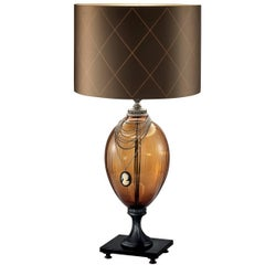 Audrey Amber Table Lamp