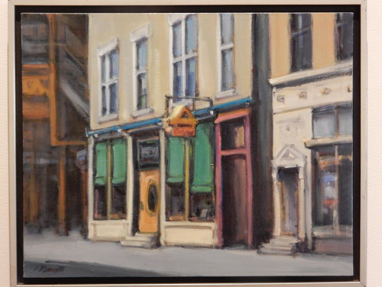 FACADE WICKER PARK - Realist Painting by Audrey Barrett