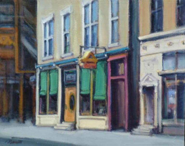 Audrey Barrett Landscape Painting - FACADE WICKER PARK
