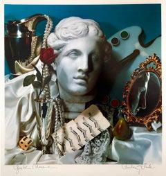 "Pop Art Color Photograph Dye Transfer Print Audrey Flack ""Greek Muse"" Photo"