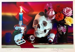"Pop Art Color Photograph Dye Transfer Print Audrey Flack ""Skull & Roses"" Photo"
