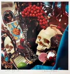 Pop Art Color Photograph Dye Transfer Print Audrey Flack Tarot Card, Skull Photo