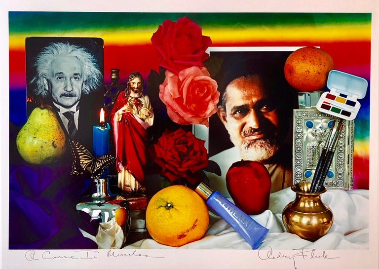 """Hand signed and titled in ink by the artist from edition of 50 (plus proofs). Color Photo printed at CVI Lab by master printer Guy Stricherz. Published by Prestige Art Ltd. From the color saturated 1980's. """"A course in miracles"""""""" The title, taken"""