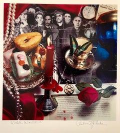 Pop Art Vintage Color Photograph Dye Transfer Print Audrey Flack Judaica Photo