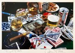 """Pop Art Vintage Color Photograph Dye Transfer Print """"Royal Flush"""" Audrey Flack"""