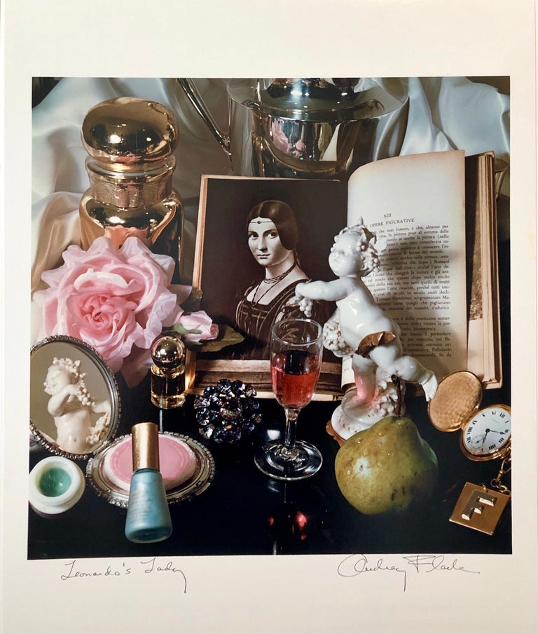 Hand signed and titled in ink by the artist from edition of 50 (plus proofs). Color Photo printed at CVI Lab by master printer Guy Stricherz. Published by Prestige Art Ltd. From the color saturated 1980's. A portrait by Leonardo da Vinci, nail