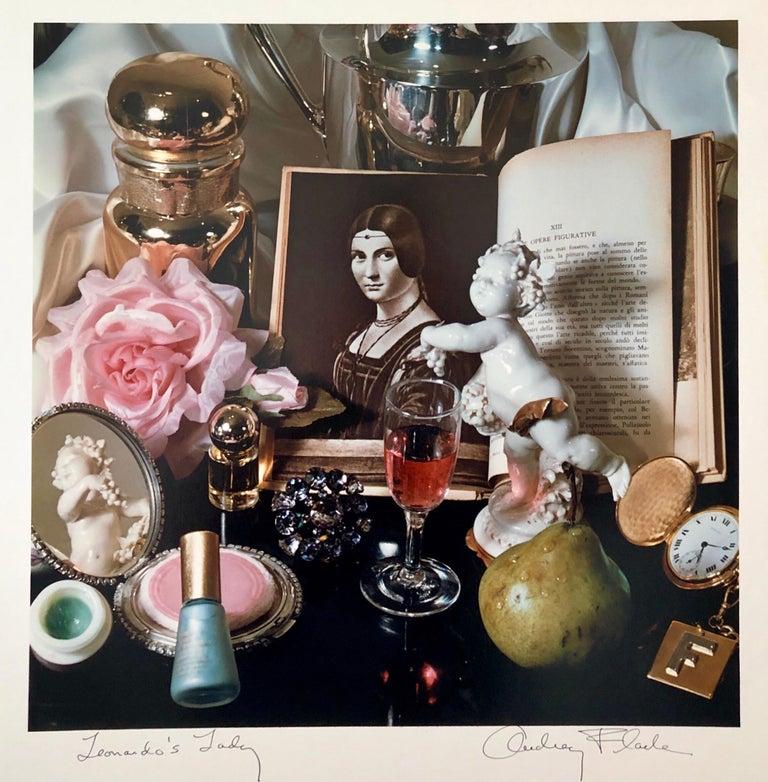 """Pop Art Vintage Photograph Dye Transfer Print """"Leonardo's Lady"""" Audrey Flack - Beige Color Photograph by Audrey Flack"""