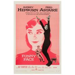 "Audrey Hepburn ""Funny Face"" Original Vintage Movie Poster, American, 1957"