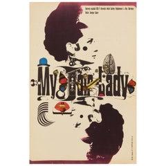 Audrey Hepburn 'My Fair Lady' Original Vintage Movie Poster, Czech, 1967