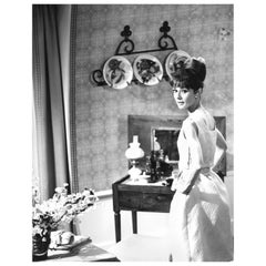 Audrey Hepburn, Original Vintage Photograph by Vincent Rossell, Paris, 1962