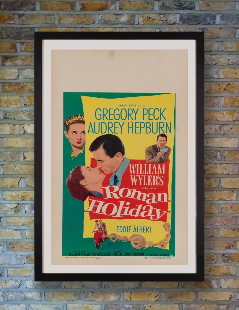 A delightful US Window Card for Audrey Hepburn's 1953 Hollywood debut