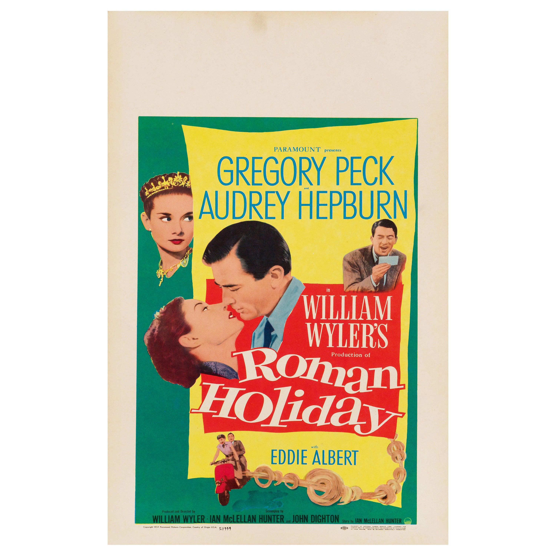 "Audrey Hepburn ""Roman Holiday"" Original Vintage Movie Poster, American, 1953"