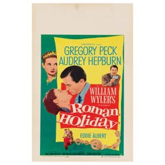 "Audrey Hepburn ""Roman Holiday"" Original Vintage Movie Poster, American, 1953"