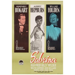 Audrey Hepburn 'Sabrina' Original Vintage Movie Poster, Swedish, 1955