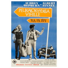 Audrey Hepburn 'Two For The Road' Original Vintage Movie Poster, Finnish, 1967