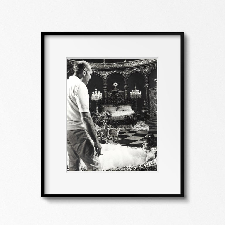 From the Personal Collection of Audrey Hepburn, Christie's, September 2017 Audrey Hepburn in the bathtub on the set of 'Paris When it Sizzles,' Paris, 1962 by Vincent Rossell Vintage gelatin silver print  Photographer's credit stamp, Audrey Hepburn