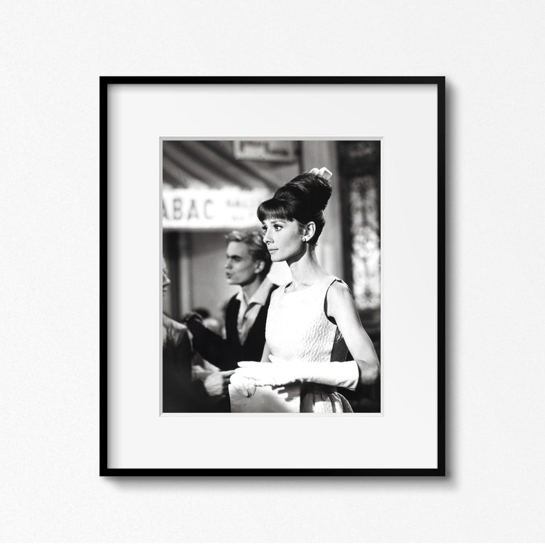French Audrey Hepburn, Vintage Photograph by Vincent Rossell, Paris, 1962 For Sale