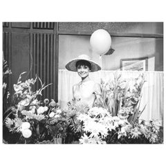 Audrey Hepburn with Balloon, Vintage Photograph by Vincent Rossell, Paris, 1962