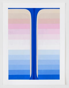Audrey Stone, Study for Blue Pour, 2016, Color Field, Abstraction