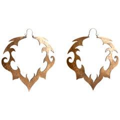 Audrey Werner, Brass Hoop Earrings, United States, 2001