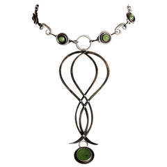 Audrey Werner, Iron, Sterling Silver & Jade Heart Necklace, United States, 2016