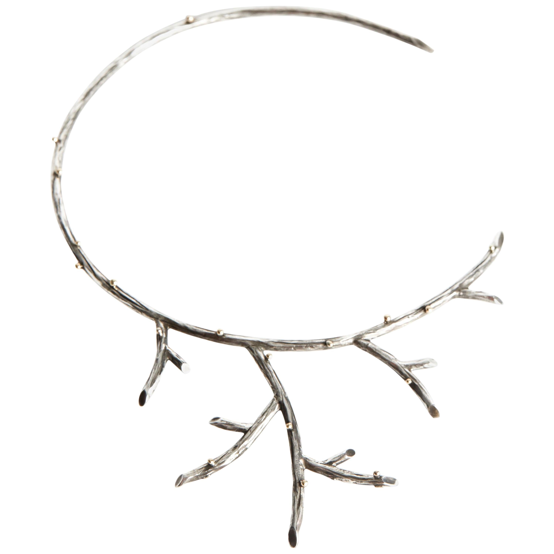 Audrey Werner, Sterling Silver Branch Necklace, United States, 2002