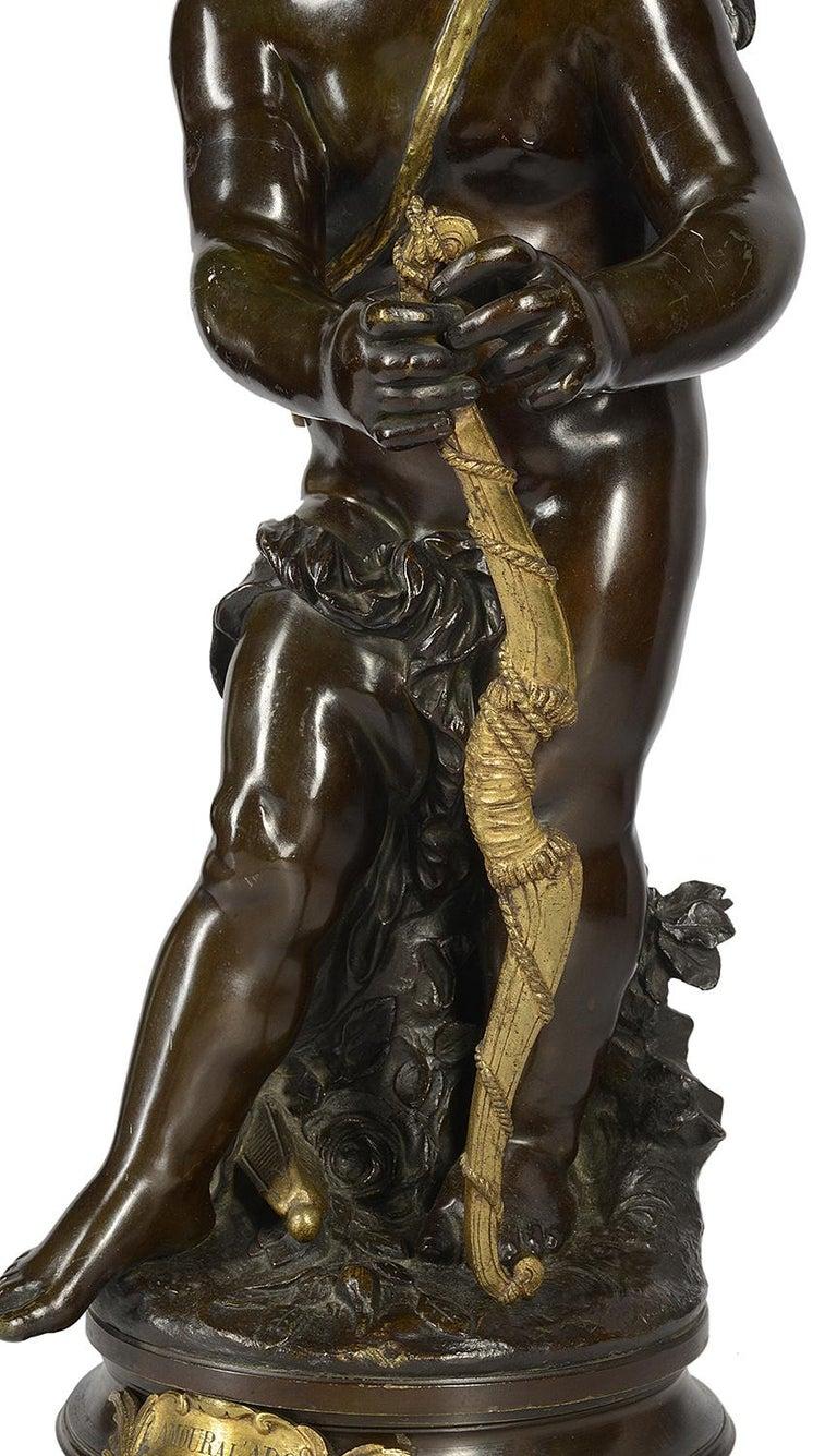 Aug. Moreau Bronze Statue Entitled 'amour à l'arc' For Sale 1