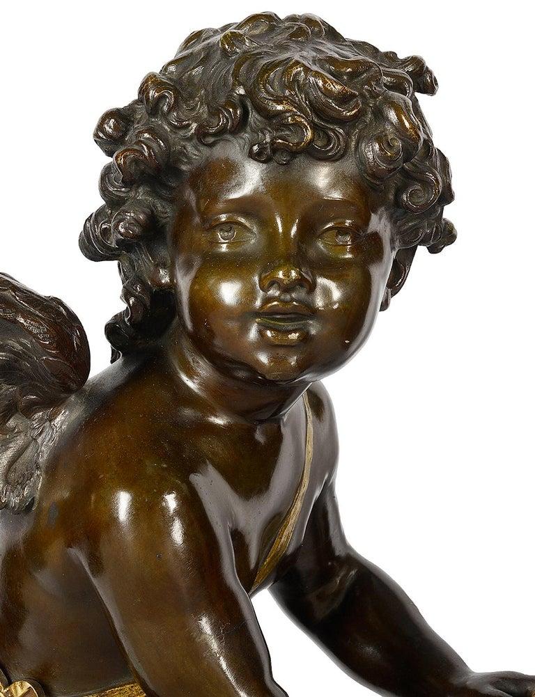 Aug. Moreau Bronze Statue Entitled 'amour à l'arc' For Sale 2