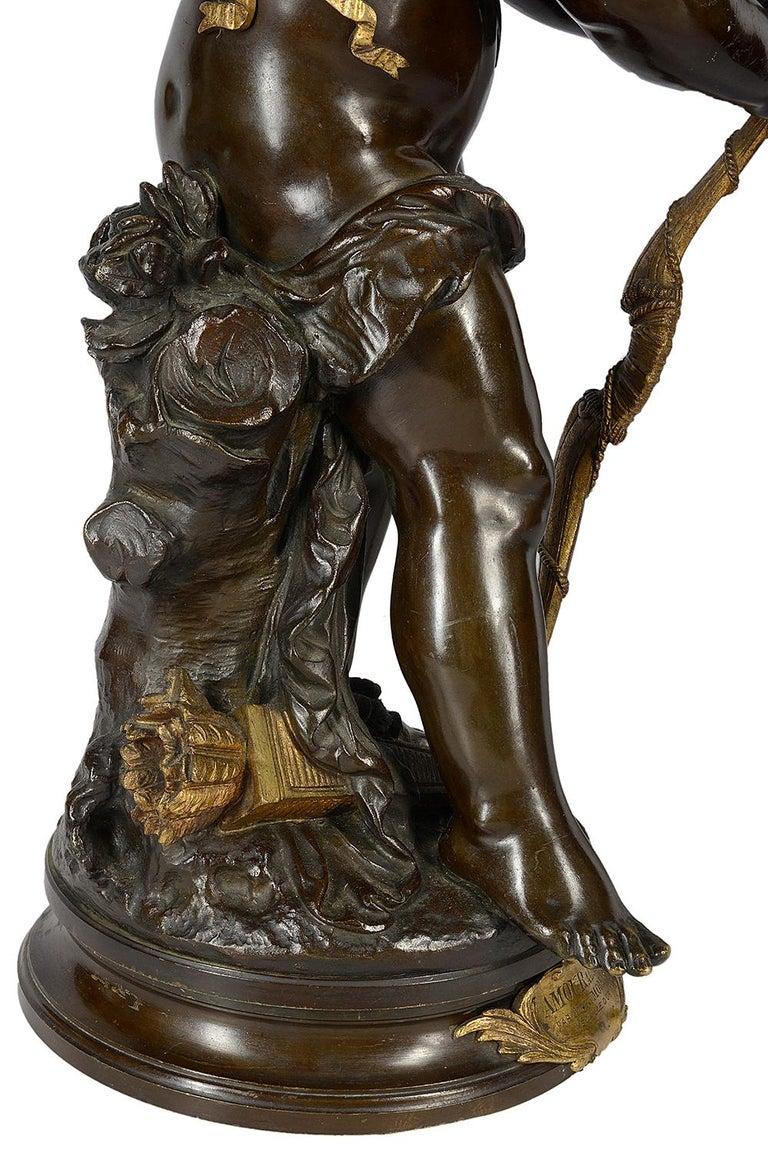 Aug. Moreau Bronze Statue Entitled 'amour à l'arc' For Sale 3