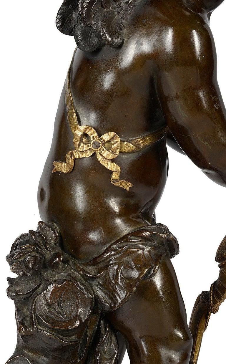 Aug. Moreau Bronze Statue Entitled 'amour à l'arc' For Sale 4