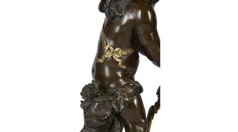 Aug. Moreau Bronze Statue of Eros, 19th Century For Sale 1