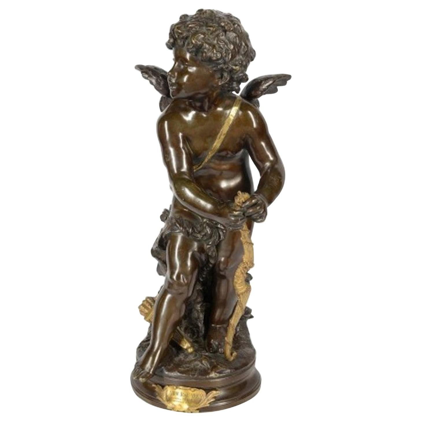 Aug. Moreau Bronze Statue of Eros, 19th Century