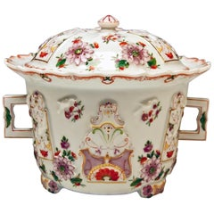 Augarten Vienna Lidded Oil Pot Candy Box Baroque Style Chinese Decor Du Paquier