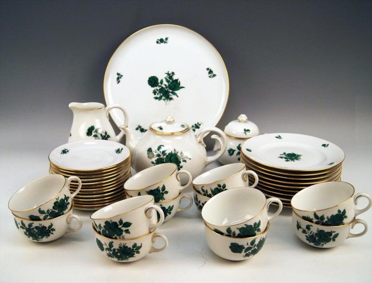 Biedermeier Augarten Vienna Tea Set Twelve Persons Decor Maria Theresia Form Schubert For Sale