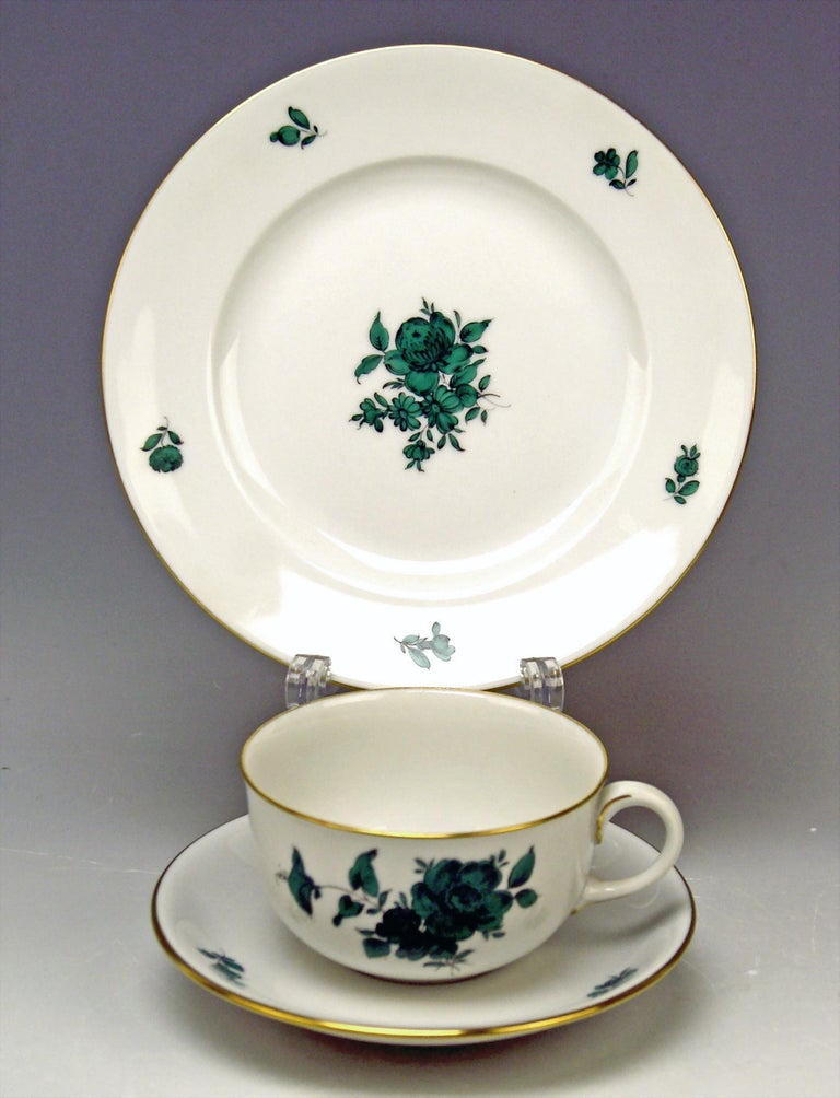 20th Century Augarten Vienna Tea Set Twelve Persons Decor Maria Theresia Form Schubert For Sale
