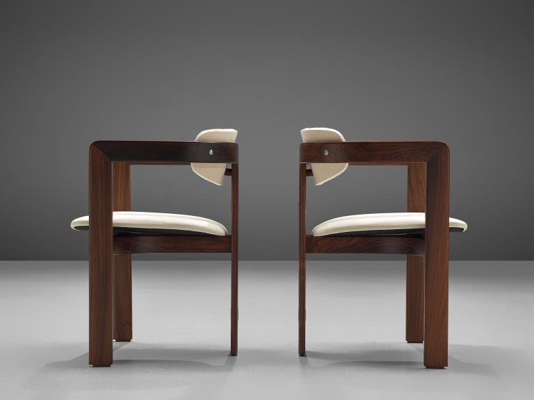 Mid-20th Century Augosto Savini Set of Six 'Pamplona' Chairs with Rosewood Frame for Christine