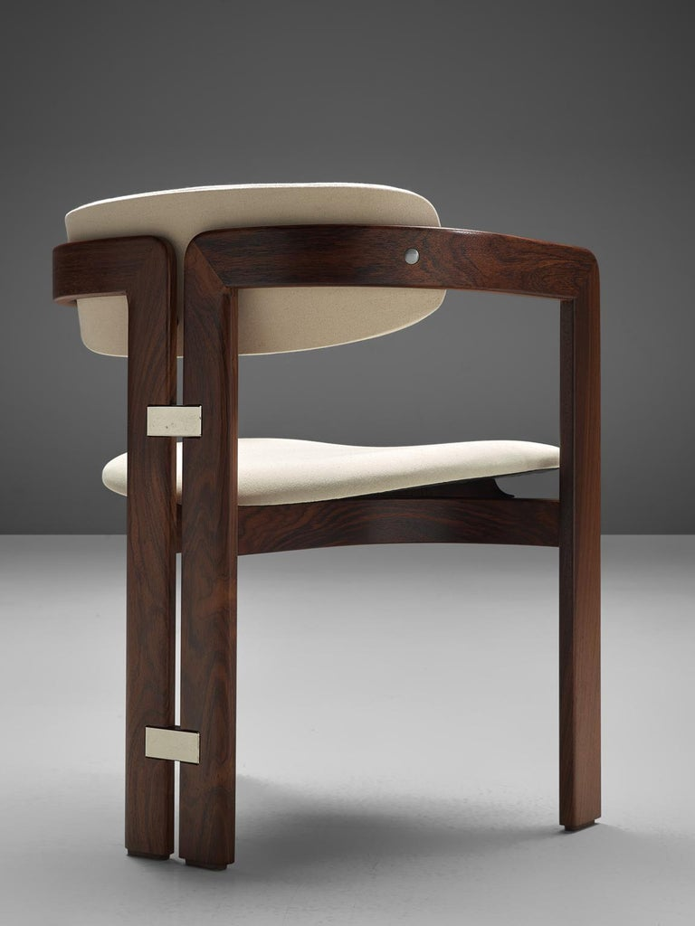Augosto Savini Set of Six 'Pamplona' Chairs with Rosewood Frame for Christine 1