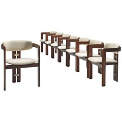 Augosto Savini Set of Six 'Pamplona' Chairs with Rosewood Frame for Christine