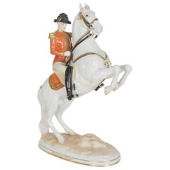 "Augurten Royal Vienna Porcelain ""Lipizzaner Horse Riding School Courbette"""