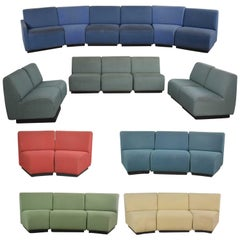 August Inc Modern Modular Sectional Sofa Straight & Wedge Pieces Style Chadwick