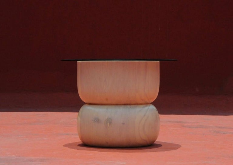 Modern August Opening Side Table by Panorammma For Sale