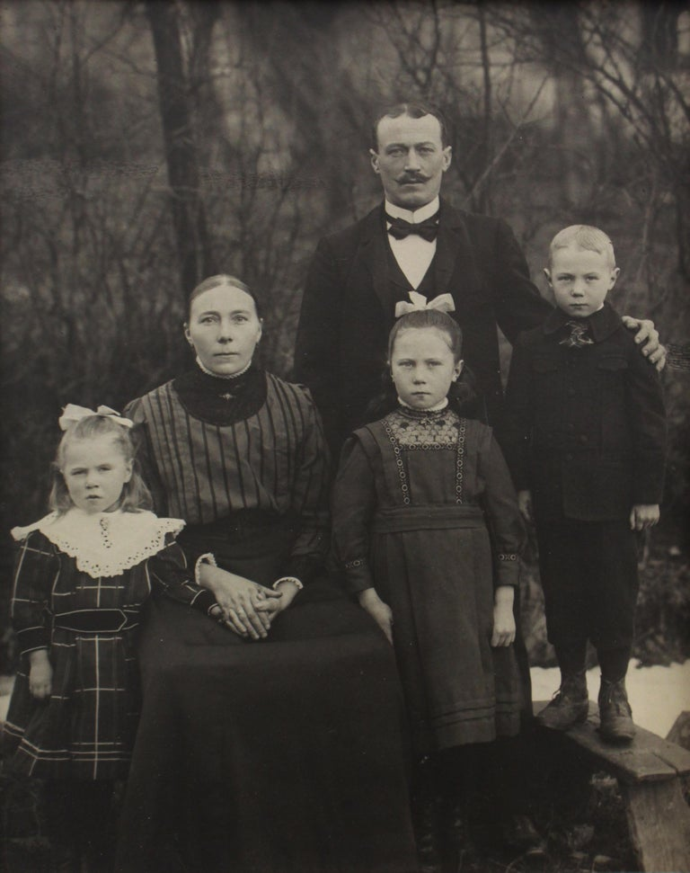 Familie Eichelhardt - August Sander (Black and White Photography) Photographer's label affixed to mount Silver gelatin print, printed c. 1913 11 x 8 1/2 inches  In a lifelong project entitled People of the 20th Century, photographer August Sander