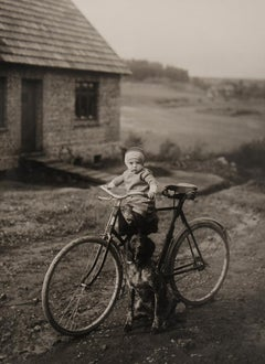 Forrester's Child, Westerwald [Farm Child on Bicycle]
