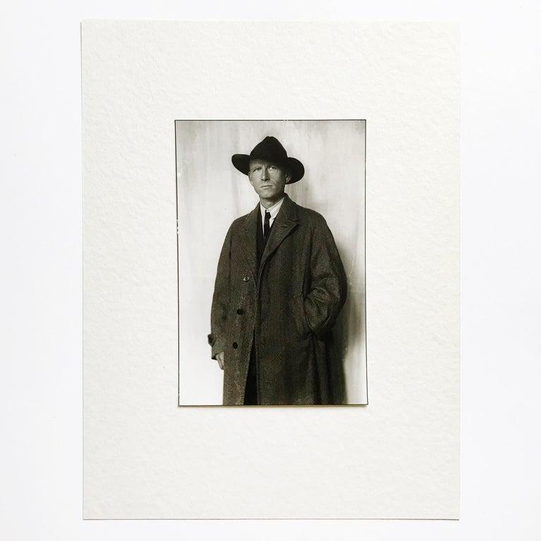 Portrait of Otto Dix, Gelatine Silver Print, Modern Art, 20th Century - Photograph by August Sander