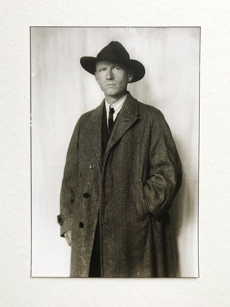 August Sander Portrait Photograph - Portrait of Otto Dix, Gelatine Silver Print, Modern Art, 20th Century